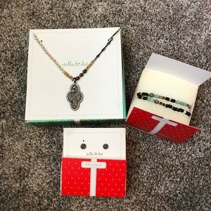 Stella & Dot Necklace, Bracelet, and Earrings Set